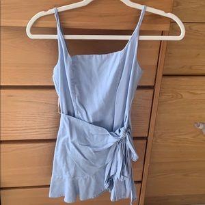 Baby Blue Princess Polly Wrap Dress